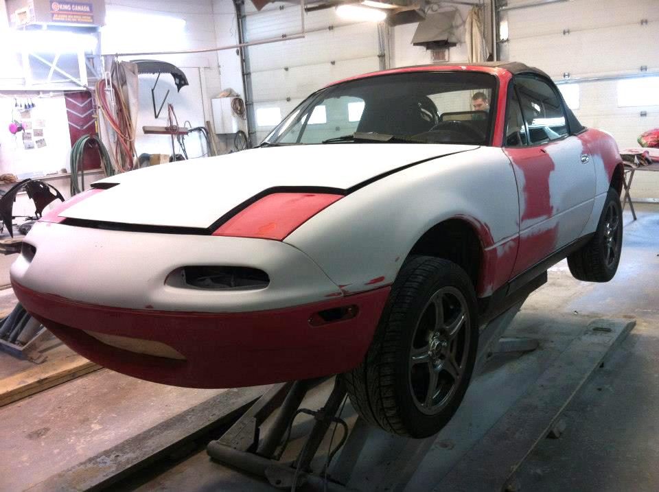 Peinture réparation rouille Mazda Miata 1993 02 | Carrosserie Hugo St-Jean
