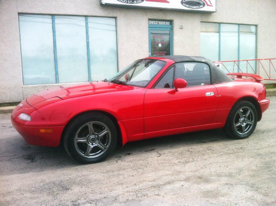 Peinture réparation rouille Mazda Miata 1993 03 | Carrosserie Hugo St-Jean